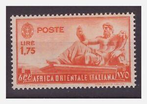 AFRICA-ORIENTALE-ITALIANA-1938-Lire-1-75-ARANCIO-NUOVO