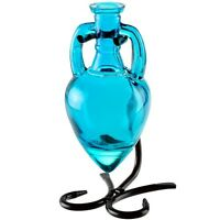 Amphora Blue Glass Bottle With Bracket Diffuser Vase Unique Diffuse Fragrance