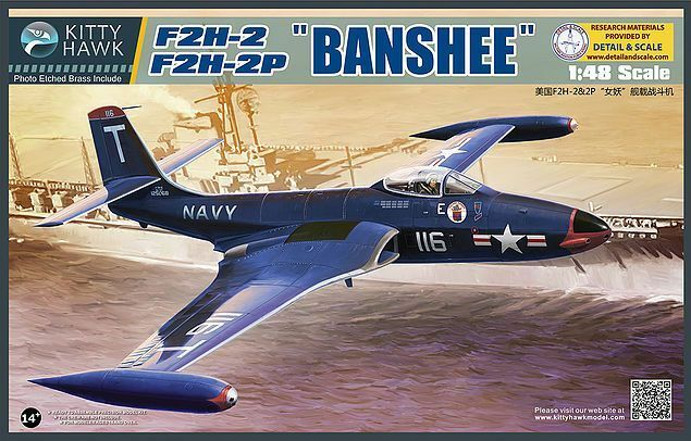 Kitty Hawk 1 48 Mcdonnell F2h-2 Banshee  80131