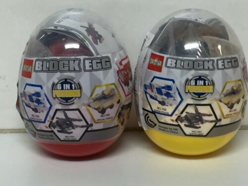 2 PCS LEGO DR.STAR BLOCK EGG 6 IN 1 FUSION Free Shipping Tracking Number