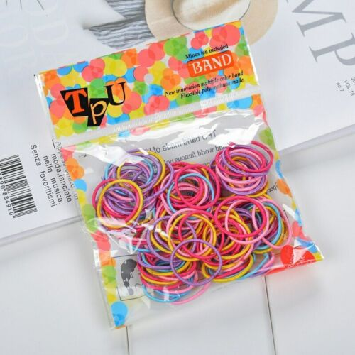 Details about  /100pc//lot Kids Hair Rope Elastic Scrunchie Hair Bands For Girls FREE SHIPPING