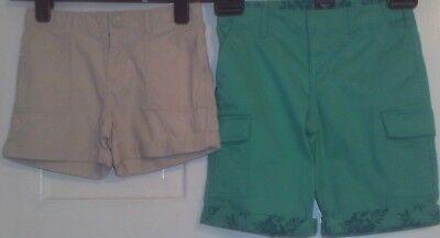 2 X Ragazze Pantaloncini Età 7 Anni Da Gap Cotone Verde E Pietra-mostra Il Titolo Originale