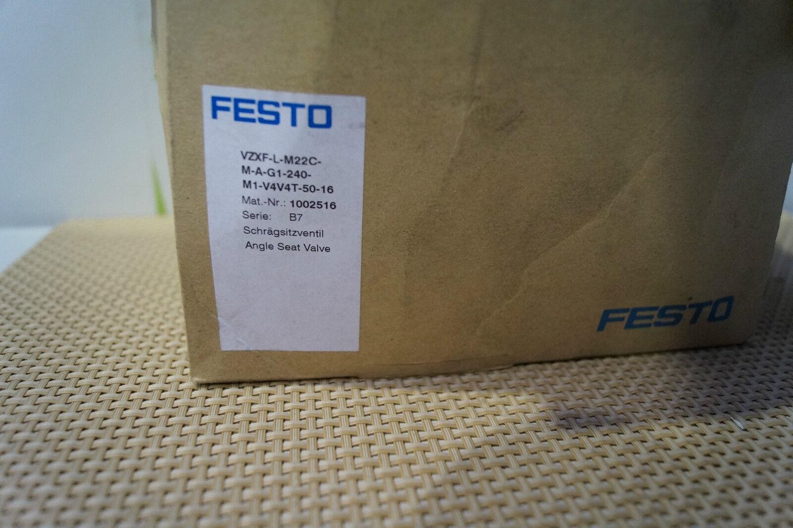 FESTO VZXF-L-M22C-M-A-G1-240-M1-V4V4T-50-16, Schrägsitzventil (NEU/OVP), 1002516