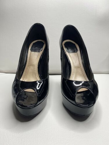 AUTH CHRISTIAN DIOR MISS DIOR PEEP TOE PLATFORMS S