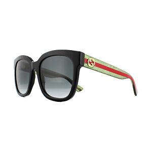 187f6a717f94 Image is loading Gucci-Sunglasses-GG0034S-002-Black-Glitter-Green-and-