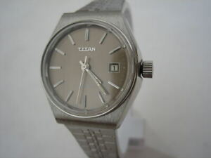 VINTAGE-STAINLESS-STEEL-TITAN-WATCH-SWISS-MADE-1960-039-S