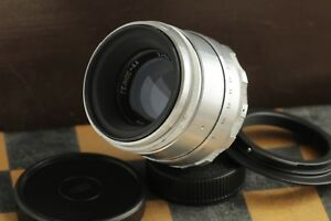 KMZ-Helios-44-silver-2-58mm-8-blades-M39-M42-for-SLR-adapter-for-Canon-EOS