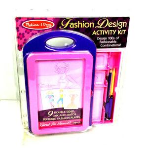 Melissa Doug Fashion Design Activity Kit Ebay