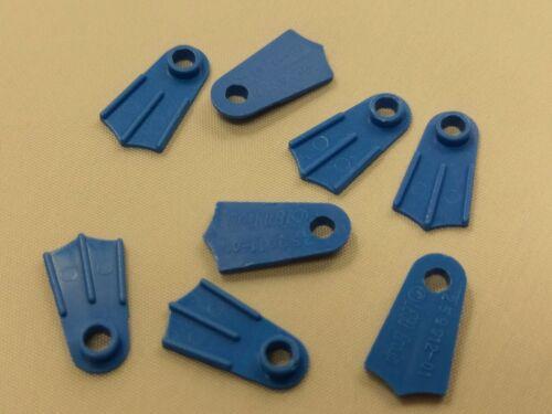 Blue Minifigure Footgear Qty x 8 Bulk Lot Lego Part No.2599a Flipper