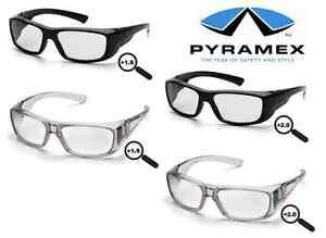 schutzbrille arbeitsschutzbrille mit sehst rke pyramex emerge rx ce en166 ebay. Black Bedroom Furniture Sets. Home Design Ideas