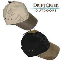 1-drift Creek Outdoors Headwear-wrangell Hat Cotton Duck Crown W/leather Visor