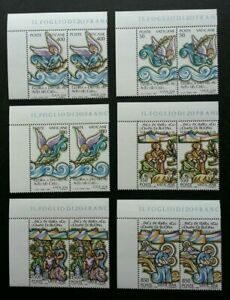[SJ] Vatican City Scene From Bible 1988 Angel Christmas (stamp block of 2) MNH
