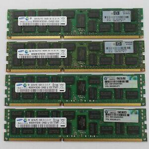 32GB RAM KIT for HP G6 G7 G8 Server 4x 8GB 2RX4 DDR3 PC3-10600R RAM  DL360 DL380