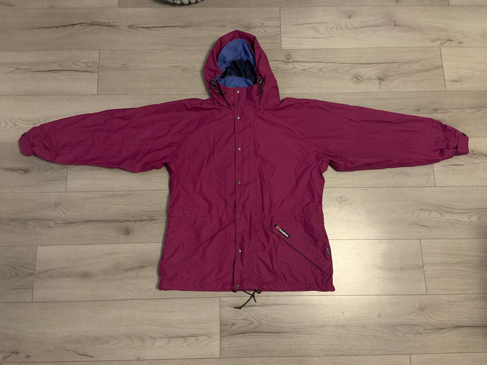 Berghaus Ladies Vintage Aquafoil Hooded Raincoat Jacket Size UK 14 Used In VGC✅