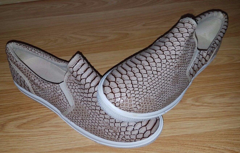 Active Cream Snake Skin Womens Shoes Black  Size 8 UK Black.. Europe 41