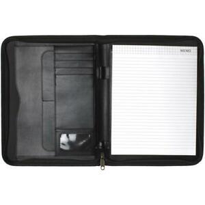 A4 Fermeture Porte Portefeuille Conférence Dossier Zip Folio Pad Organisateur Cv Cv-afficher Le Titre D'origine
