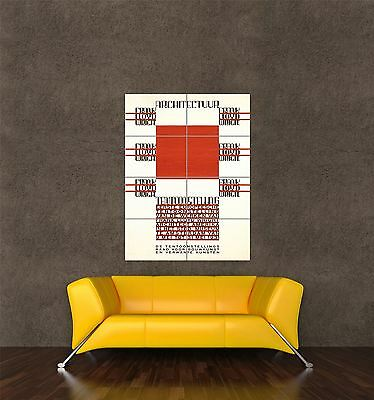 GIANT PRINT POSTER ARCHITECTURE FRANK LLOYD WRIGHT AMSTERDAM NETHERLANDS PDC077