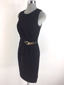Image Is Loading Calvin Klein Nwtag Beautiful Little Black Dress Ruching
