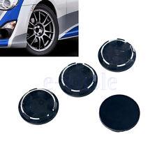 4 X Black Racing Car Wheel Center Hub Caps Covers Set No Logo Universal 50mm HM