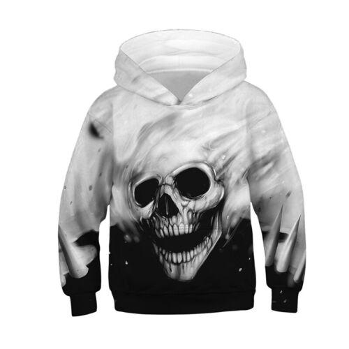Kids Boys Girls 3D Print Hoodies Sweatshirt  Hooded Sweater Pullover Jumper Tops