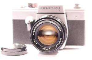 PRAKTICA-L-Reflex-Film-Camera-avec-YASHICA-Auto-YASHINON-DS-50-mm-1-1-4-LENS