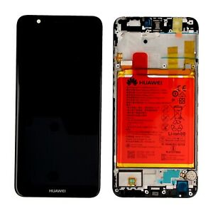 VETRO DISPLAY + LCD+FRAME + BATTERIA ORIGINALE Huawei P SMART BLACK FIG-LX1 NERO