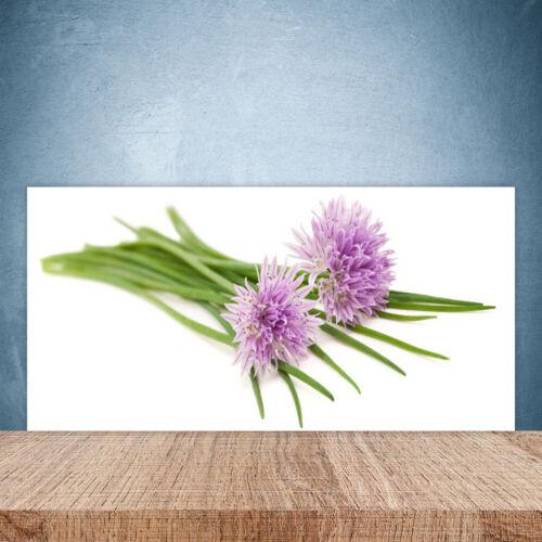 Küchenrückwand aus Glas 100x50cm ESG Spritzschutz Blumen Pflanzen