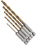 13-pieza-o-pedazo-5-Set-1-4-034-Titanio-Recubierto-HSS-Drill-Bit-Set-Para-Madera-O-Metal miniatura 4