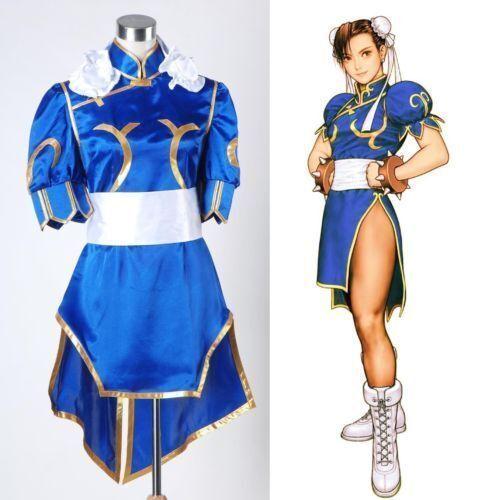 SALE Chun Li Street Fighter Blue Dress Cosplay Costume in Standard Size