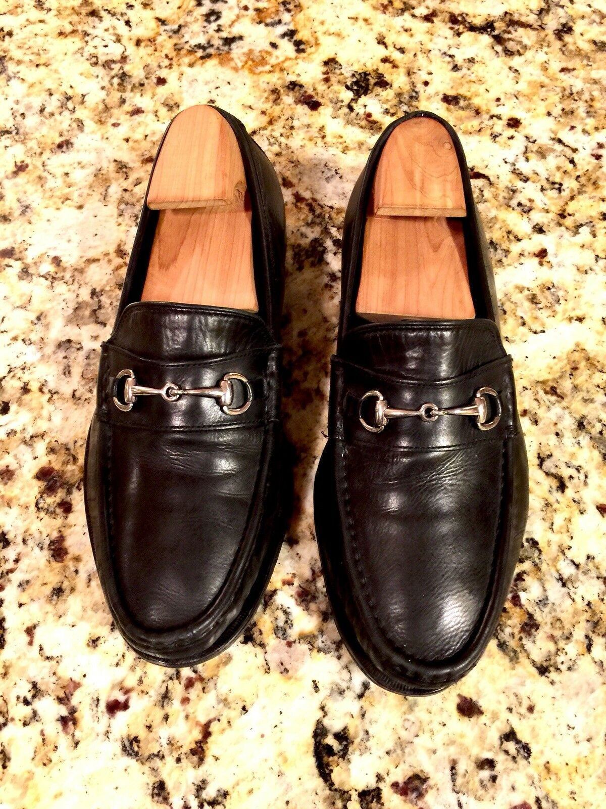 MENS COLE HAAN AIR AIDEN HORSEBIT LOAFERS SZ 9 W Black  LEATHER C09007