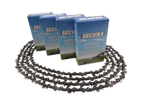 4 Sägeketten passend Stiga SPR276-25cm 3//8 40TG 1,3mm