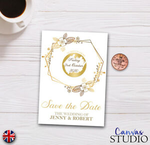 Personnalise-RAYE-carte-mariage-inviter-Parti-reveler-Save-the-Date-Gold