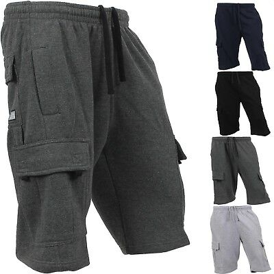 cost charm new styles classic styles PROCLUB Mens CARGO SHORTS Fleece SWEATPANTS 6 Pockets Basic Gym Heavyweight  | eBay
