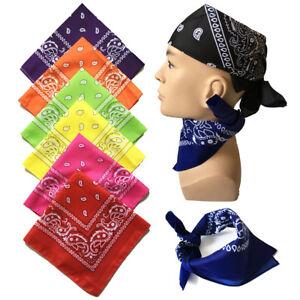 100-Cotton-Head-Wrap-Cotton-Dacron-Paisley-Bandanas-Double-Sided-Scarf-20-Colors