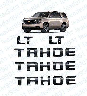 2PCS Set Matte Black Suburban LTZ Emblem Badge Nameplate Letter for GM Chevrolet
