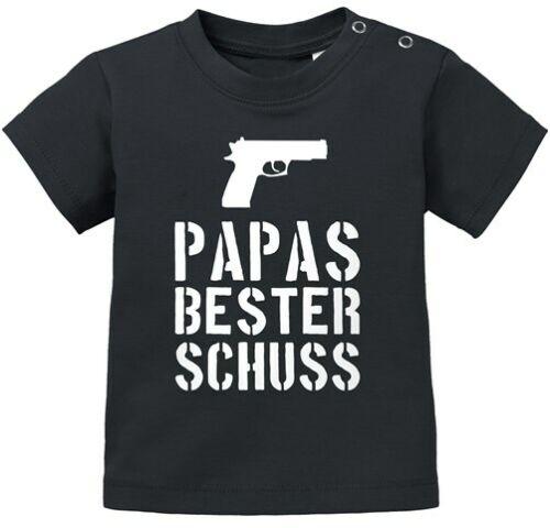 Baby Kurzarm T-Shirt Papas bester Schuss Babyshirt Jungen Mädchen Shirt