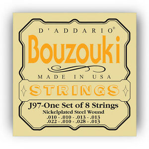 DAddario-J97-Greek-Bouzouki-8-String-Nickel-MSRP-12-95-AUTHORIZED-DEALER