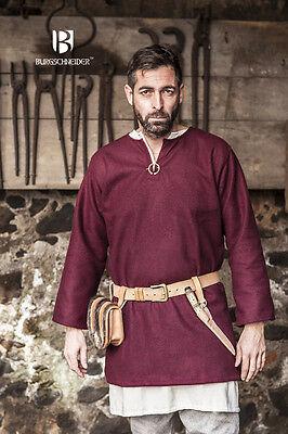 Mittelalterliche Tunika Lodin Rot Wolle von Burgschneider