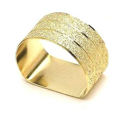 Gold Textured Flat Bottomed Napkin Rings Sets of 4, 6 or 8