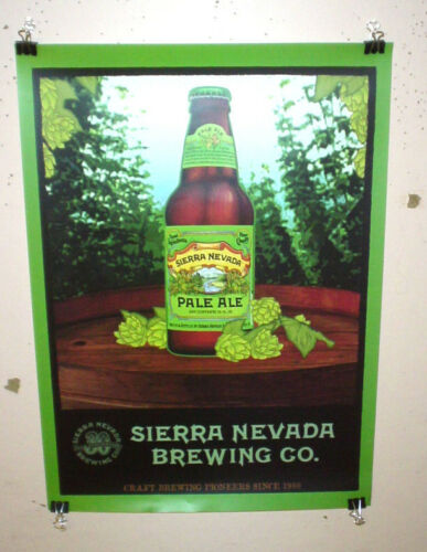 SIERRA NEVADA BEER POSTER PALE ALE BOTTLE CRAFT BEER POSTER 30TH ANNIVERSARY