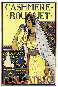 Cashmere Vintage Poster Stylish Graphics Arab Room Decor Art Nouveau