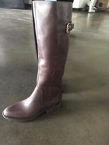 89ea0855de0bb5 womens boots brown soft zipper tall riding nwt sz 4 sam edelman ...
