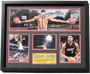 New LeBron James Signed Miami Heat Limited Edition Memorabilia