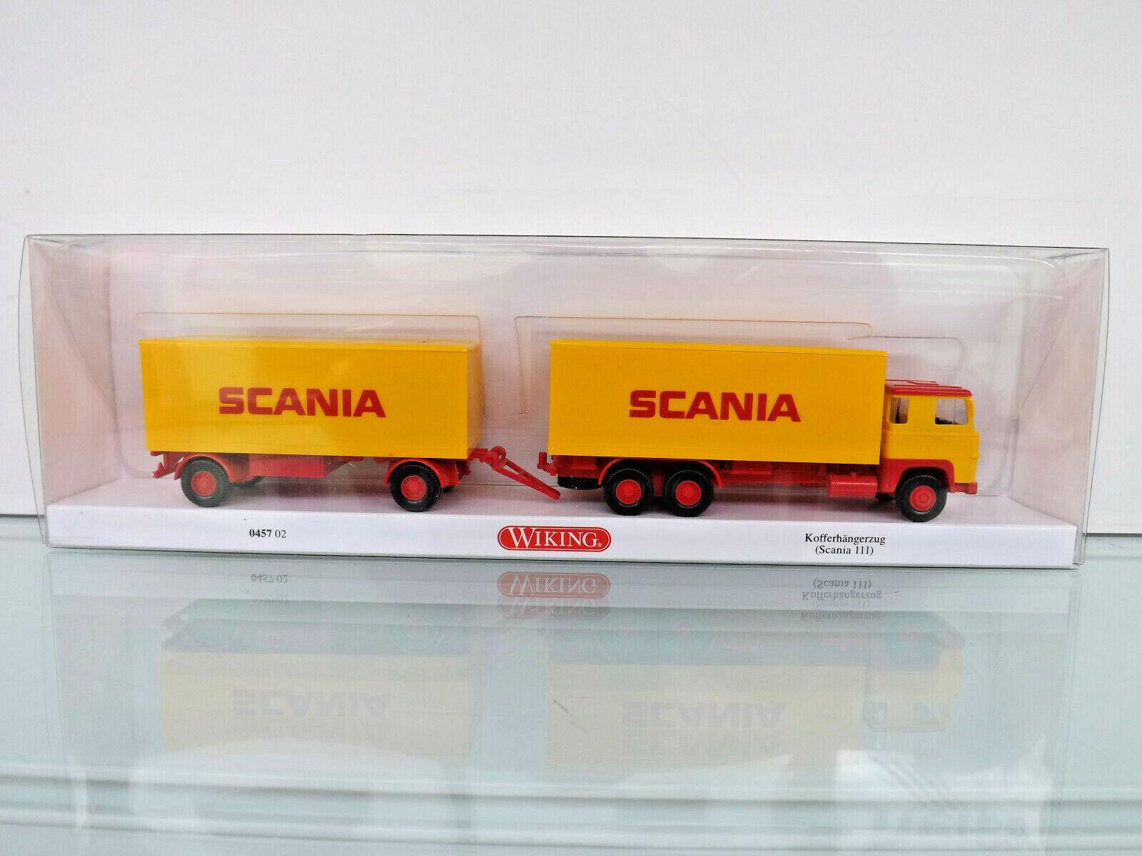 "Scania 111 Wiking 45702 Kofferhängerzug /""SCANIA/"""