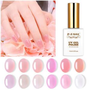 RS-Nail-Gel-Smalto-UV-LED-SMALTO-SOAK-OFF-SEMI-Jelly-Gel-Colore-15ml