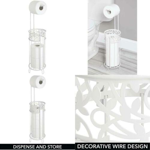 Mdesign Metal Freestanding Toilet Paper Roll Holder Stand And Dispenser With Sto