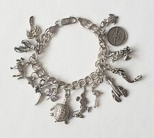 Best Birthday Gift 10k Solid Double Link Charm Bracelet