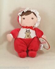 Christmas Baby Rattle Doll from Prestige (AVAILABLE in Blonde or Brunette Hair)