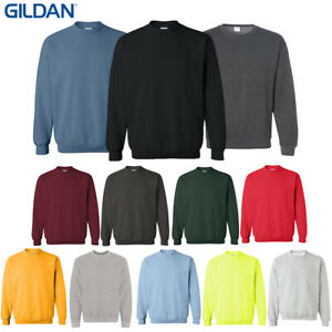 Gildan-Men-039-s-1800-Long-Sleeve-Heavy-Blend-Crew-Neck-Pullover-Sweatshirt