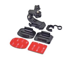 Helmet-Mount-Kit-Curved-or-Flat-Surface-for-Action-amp-Digital-Cameras-amp-GoPro
